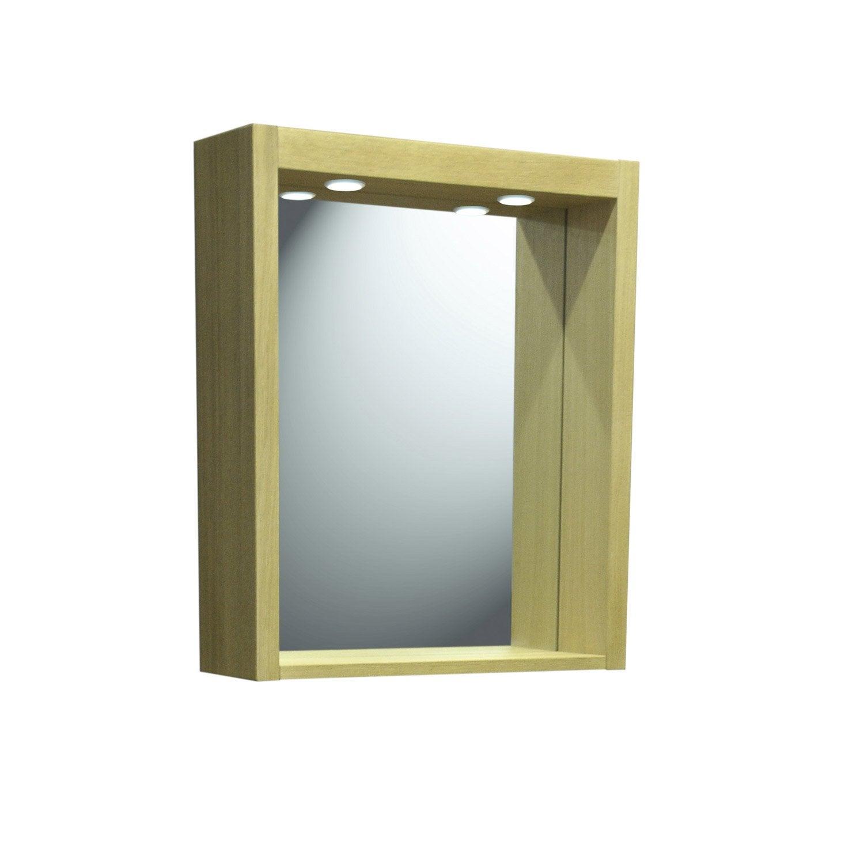 Miroir avec clairage int gr fjord leroy merlin - Miroir autocollant leroy merlin ...