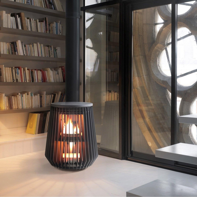po le bois invicta il t anthracite 6169 44 8kw leroy. Black Bedroom Furniture Sets. Home Design Ideas