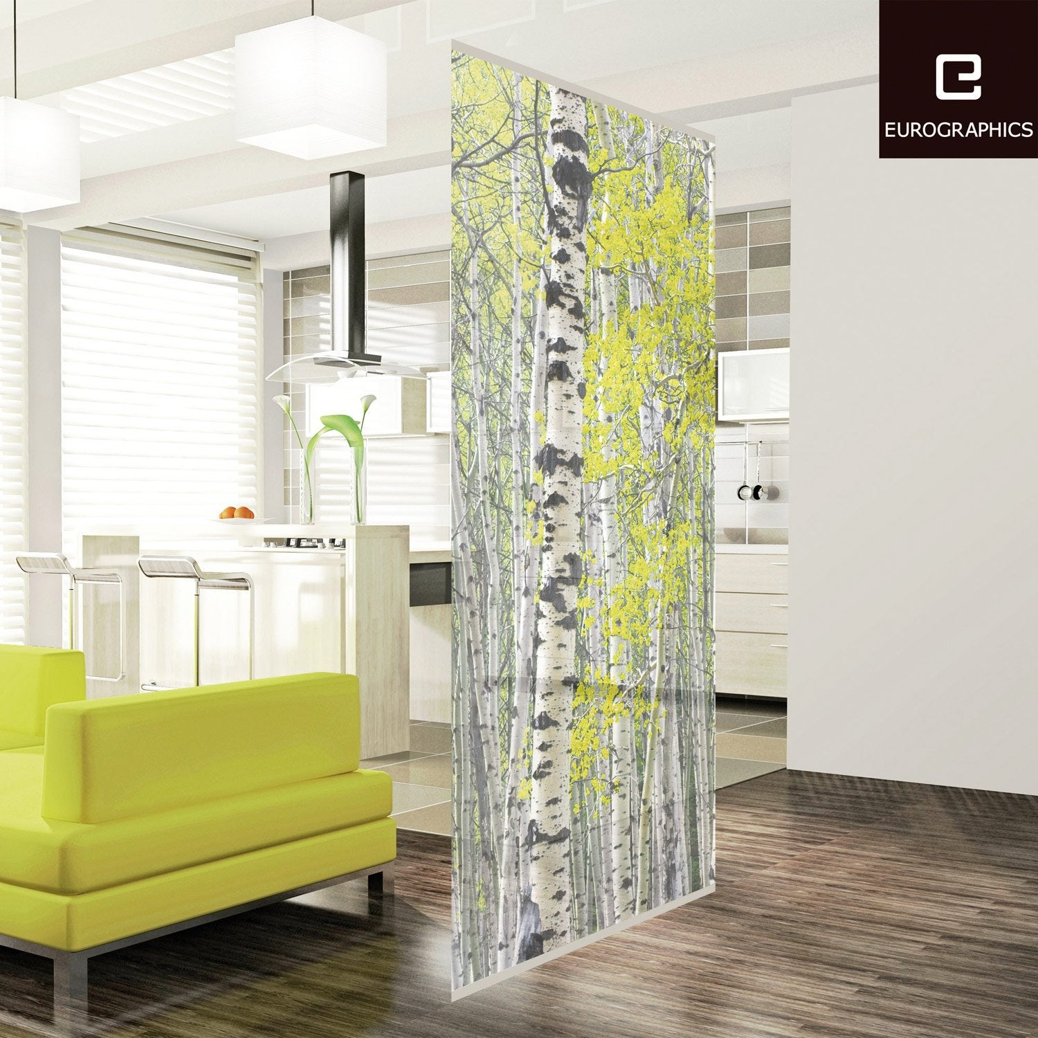 Cloison d corative silver birch forest 100 x 240 cm for Cloison leroy merlin