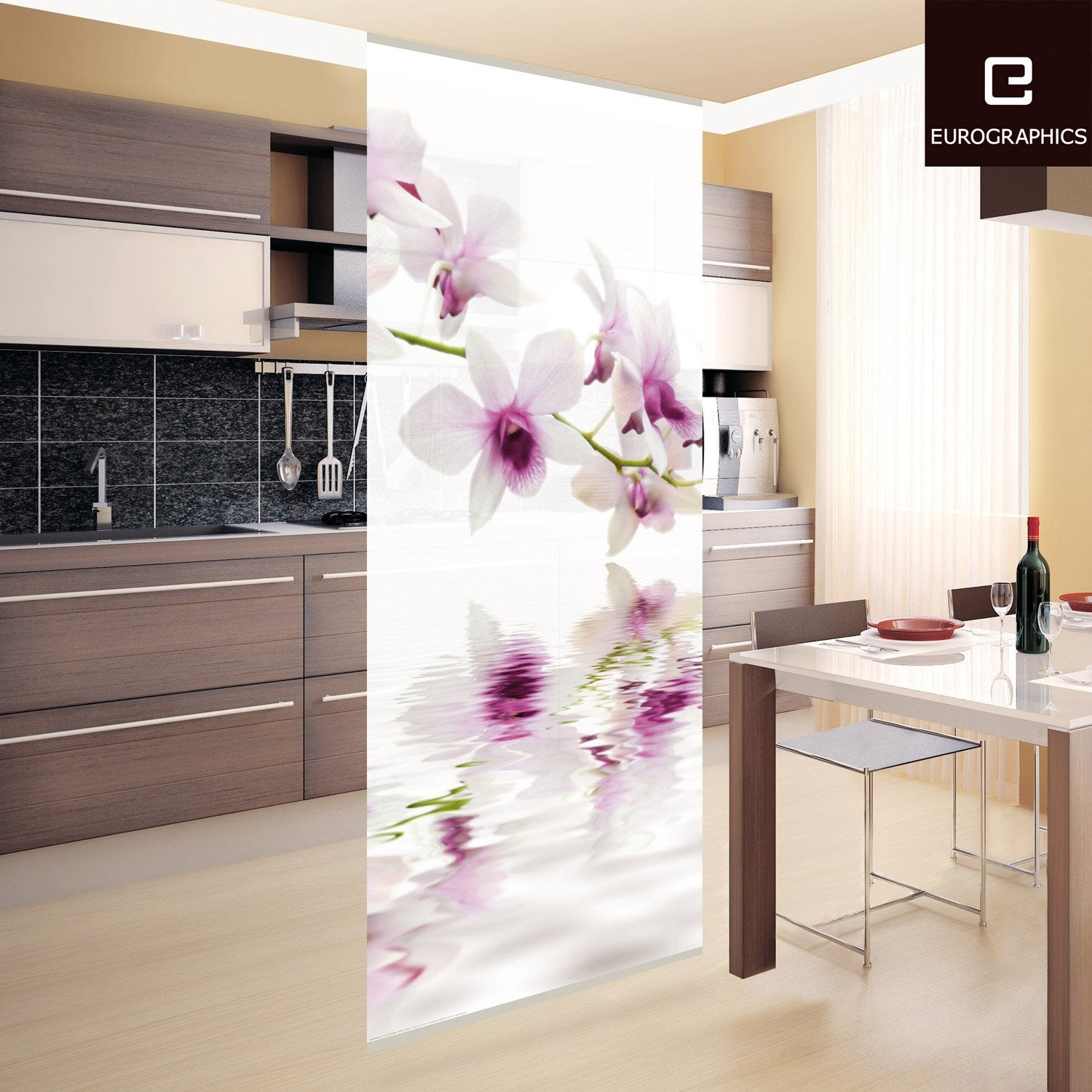 cloison d corative white orchid 100 x 240 cm leroy merlin. Black Bedroom Furniture Sets. Home Design Ideas
