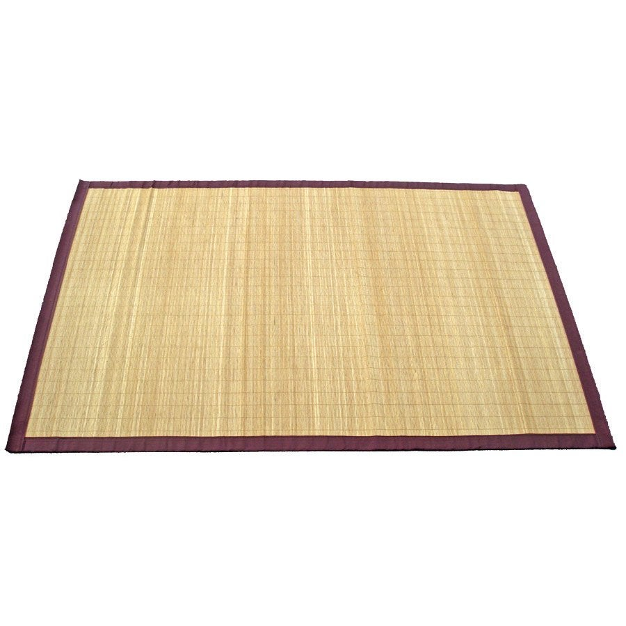 Tapis naturel bambou naturel x cm leroy merlin for Salle de bain sol bambou