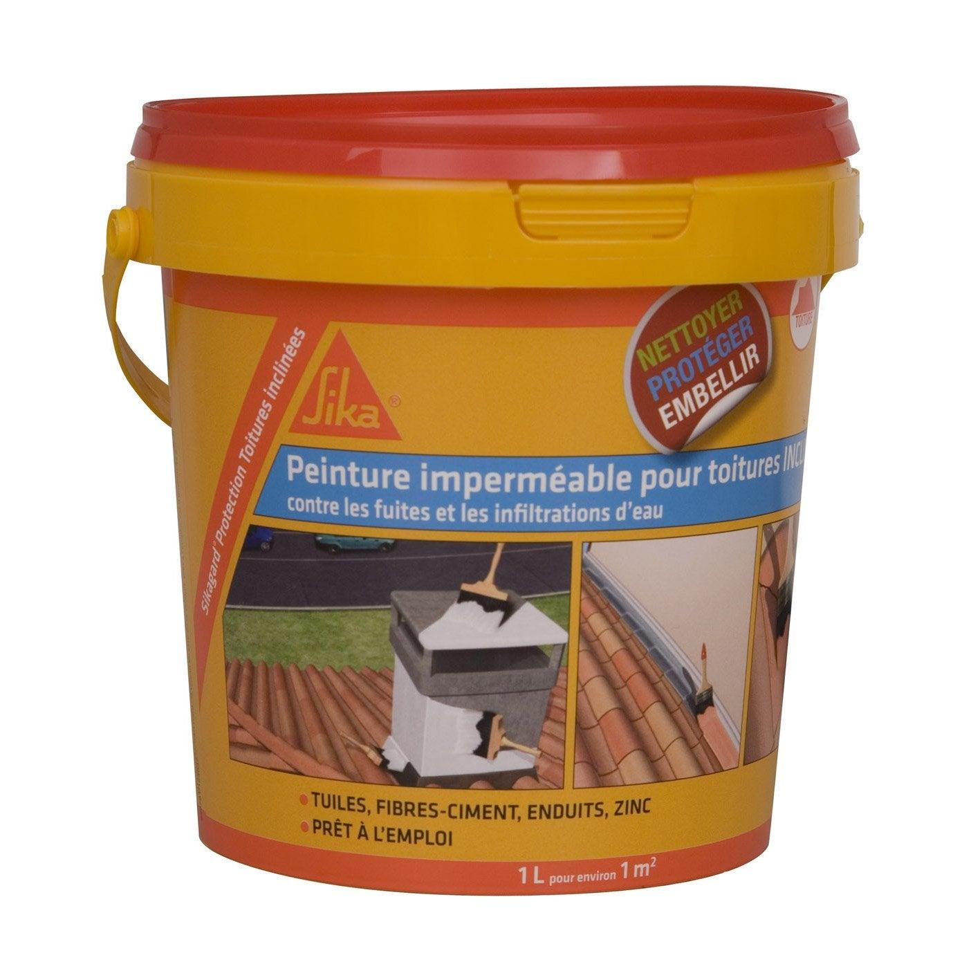 Imperm abilisant sika sikagard 1 l terre cuite leroy merlin - Produit impermeabilisant pour toiture ...