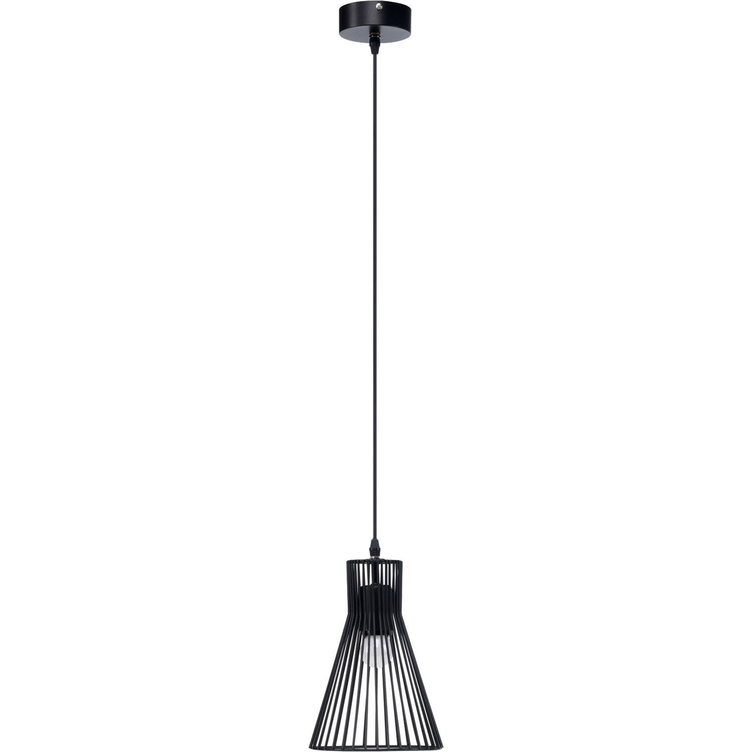 Suspension design gael m tal noir 1 x 60 w mathias leroy for Suspension metal cuisine