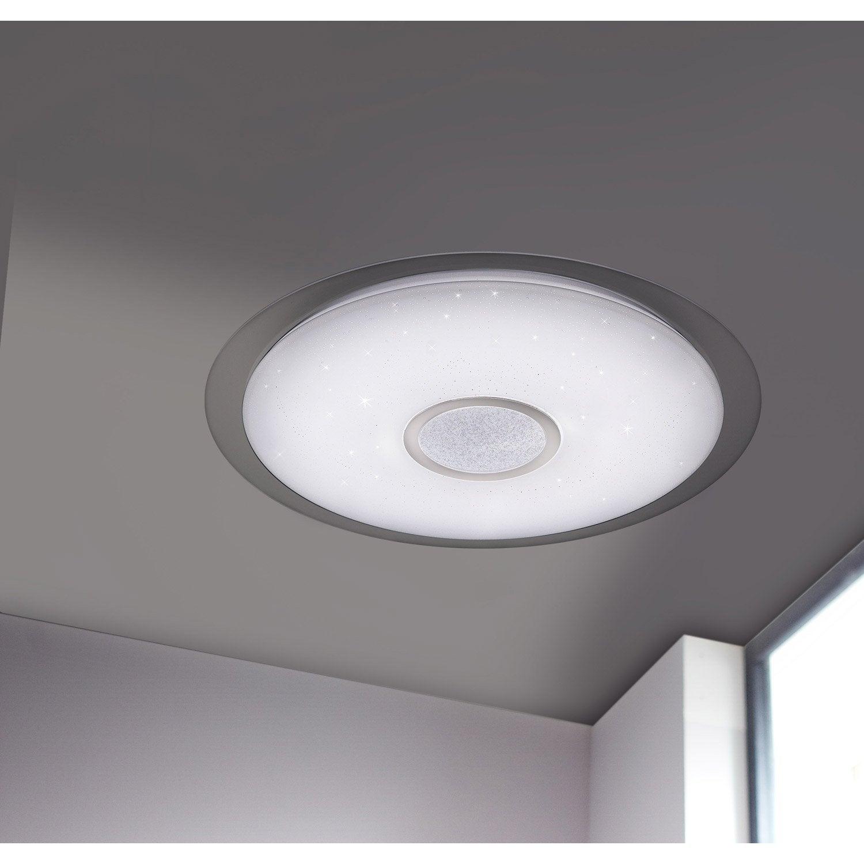 plafonnier design led integree kiana d 56cm polycarbonate blanc 1 x 34 w wofi Résultat Supérieur 15 Nouveau Applique Plafond Leroy Merlin Photos 2018 Phe2