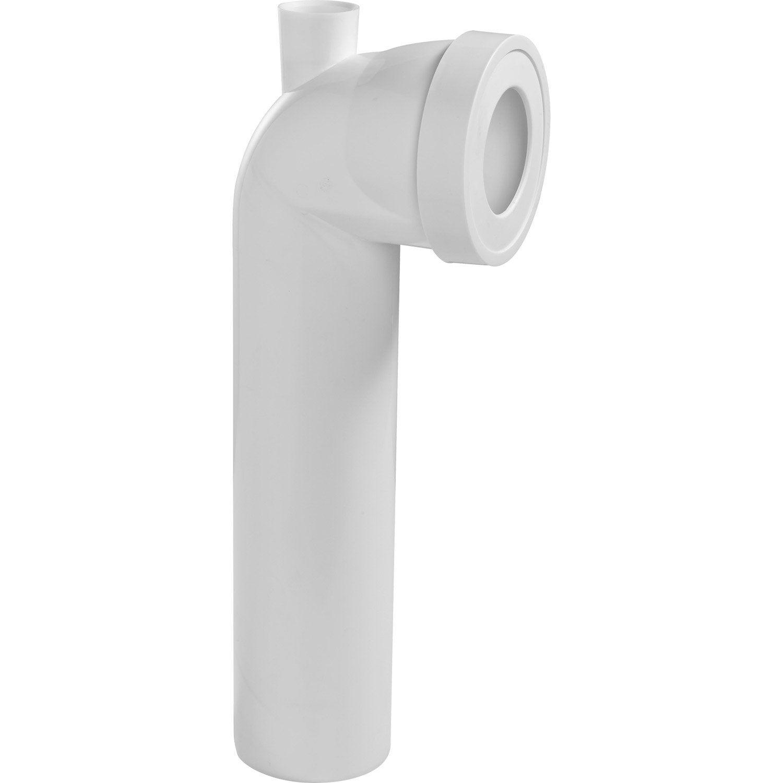 pipe de wc longue en angle de 90 c avec piquage cm wirquin leroy merlin. Black Bedroom Furniture Sets. Home Design Ideas