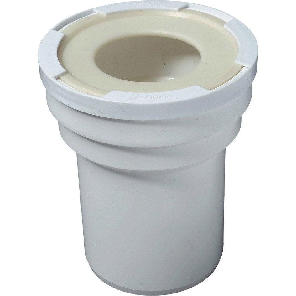 Manchon 100 mm pour sortie de cuvette de wc cm for Douchette pour wc leroy merlin