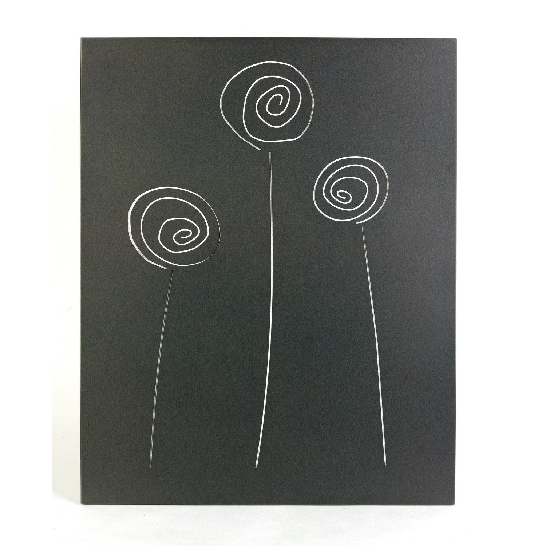 Plaque de protection murale en acier coloris noir givr selene x - Plaque en fer leroy merlin ...