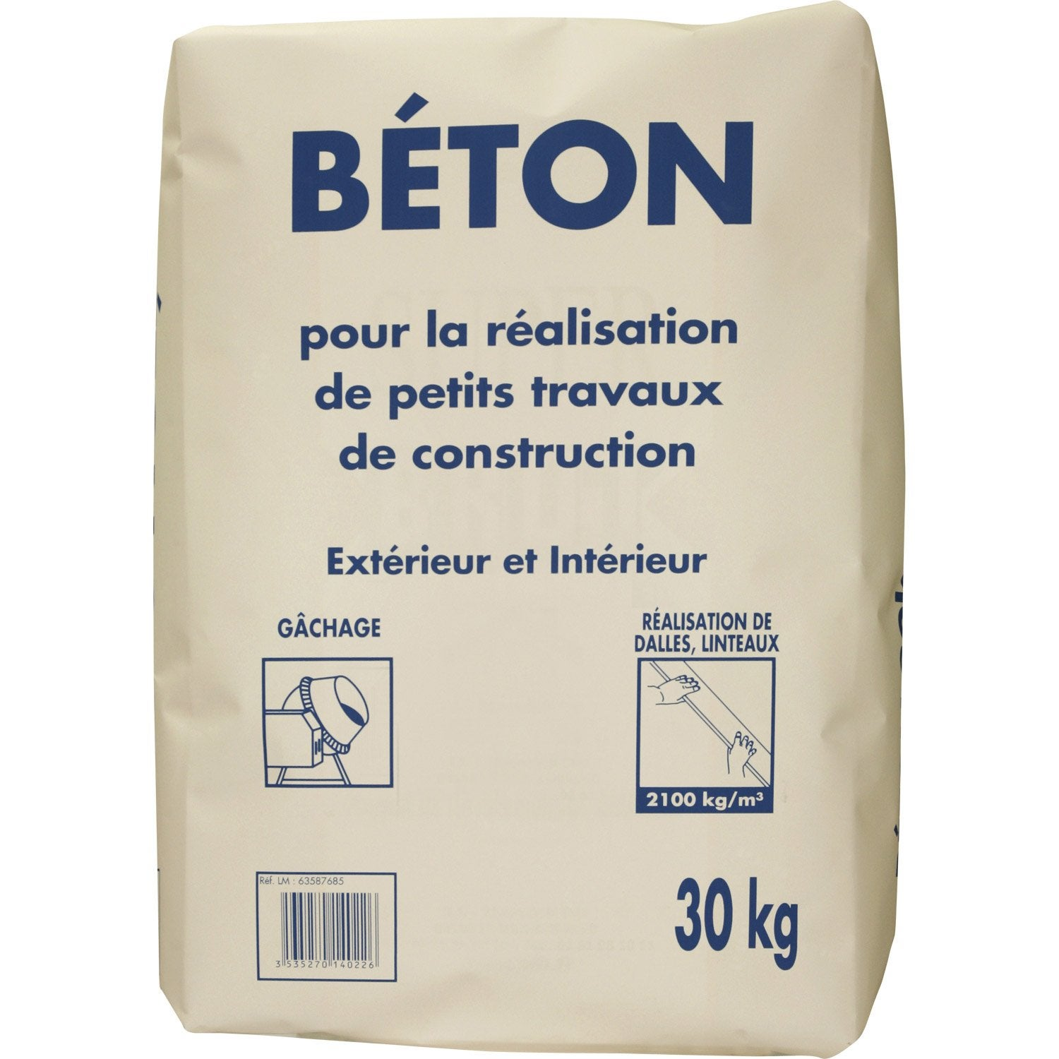 B ton 30 kg leroy merlin for Dosage mortier pour chape