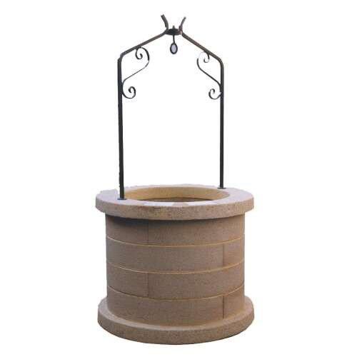 Puits en pierre reconstitu e ton pierre puits h98 leroy for Puit decoratif de jardin