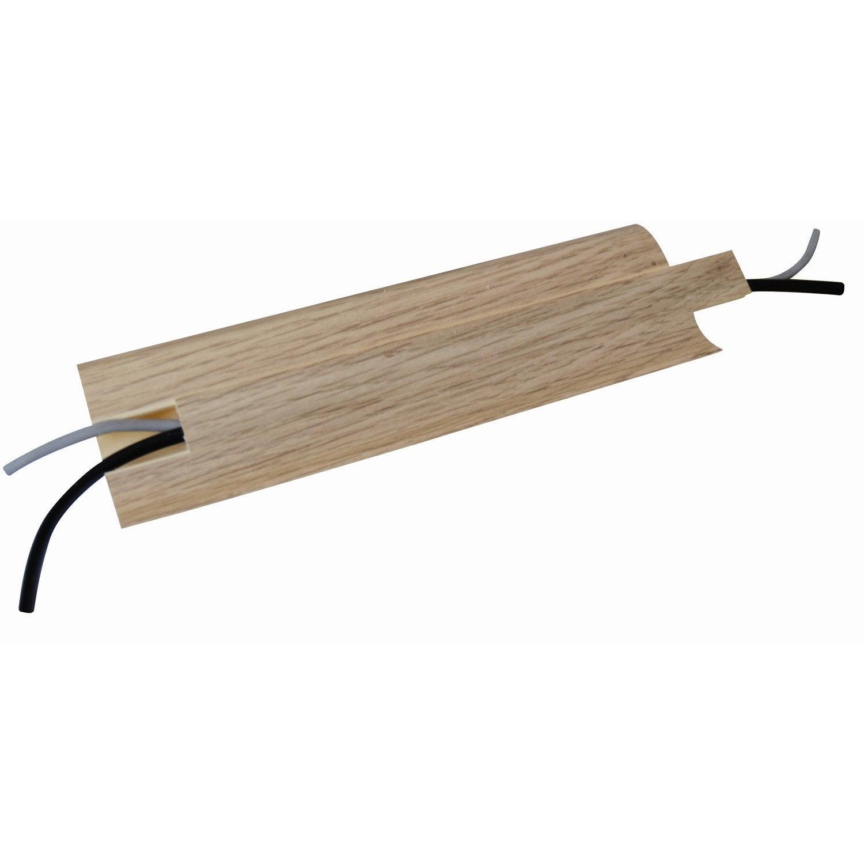 Plinthe PVC cachefil décor chêne, 60 x 12 mm x 25 m