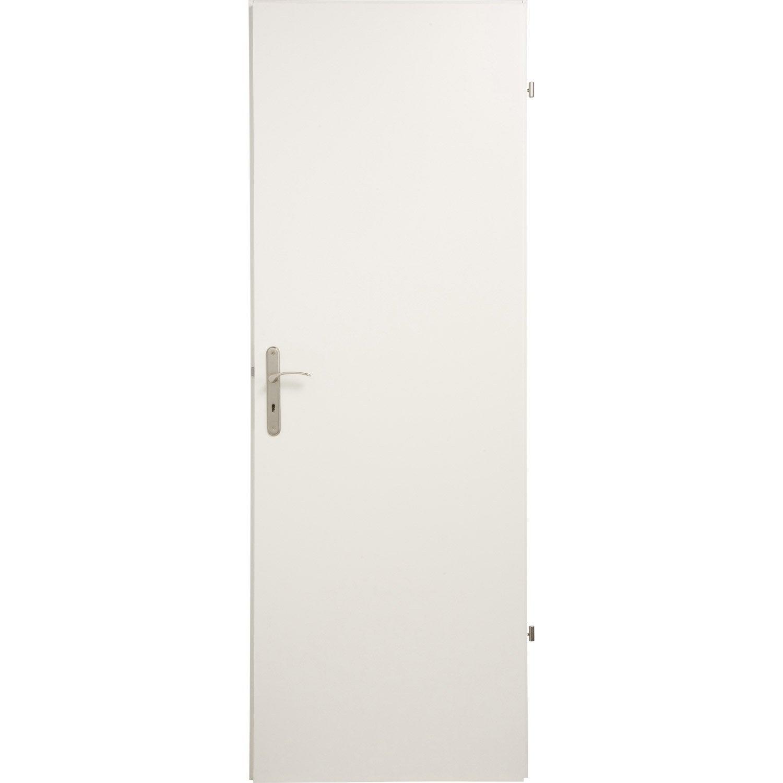 porte seule home pleine poussant gauche 204 x 83 cm leroy merlin. Black Bedroom Furniture Sets. Home Design Ideas