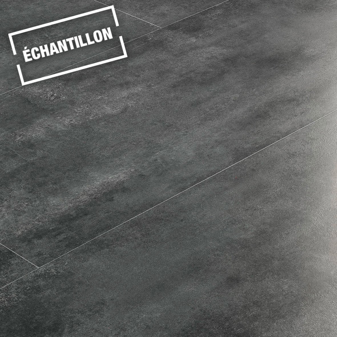 echantillon sol stratifi novofloor effet b ton noir leroy merlin. Black Bedroom Furniture Sets. Home Design Ideas