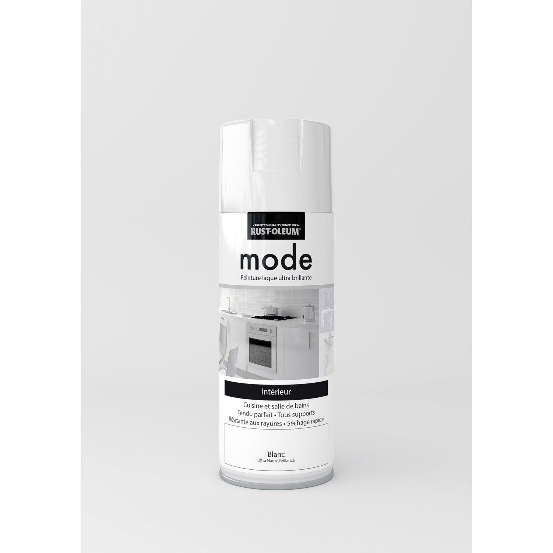 peinture a rosol mode brillant rustoleum blanc 0 4 l leroy merlin. Black Bedroom Furniture Sets. Home Design Ideas