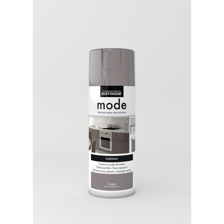 peinture a rosol mode brillant rustoleum beige taupe 0 4 l leroy merlin. Black Bedroom Furniture Sets. Home Design Ideas