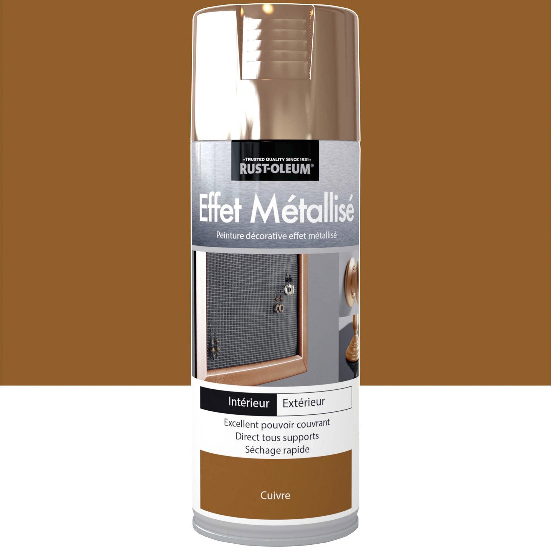 Peinture a rosol effet metallis m tallis rustoleum - Peinture en bombe pour plastique ...