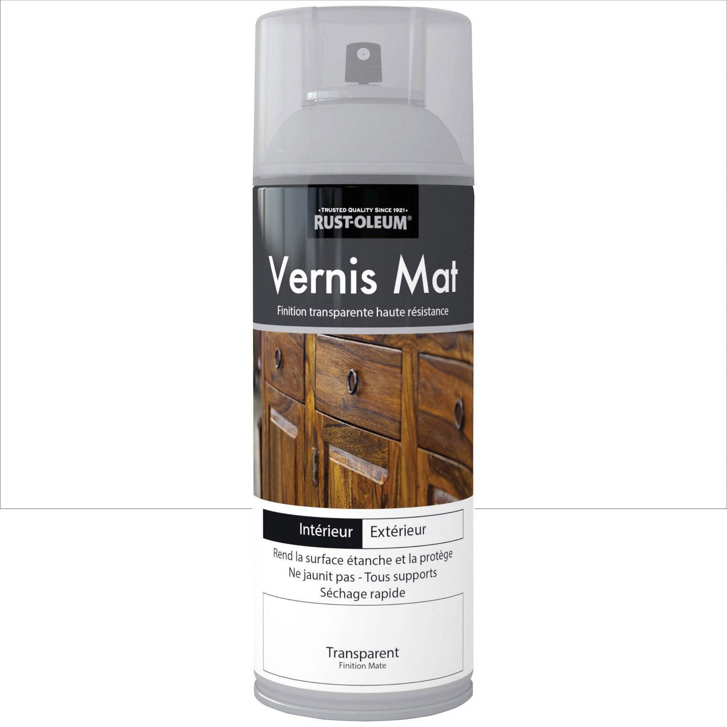 vernis en bombe a rosol mat rustoleum incolore 0 4 l leroy merlin. Black Bedroom Furniture Sets. Home Design Ideas