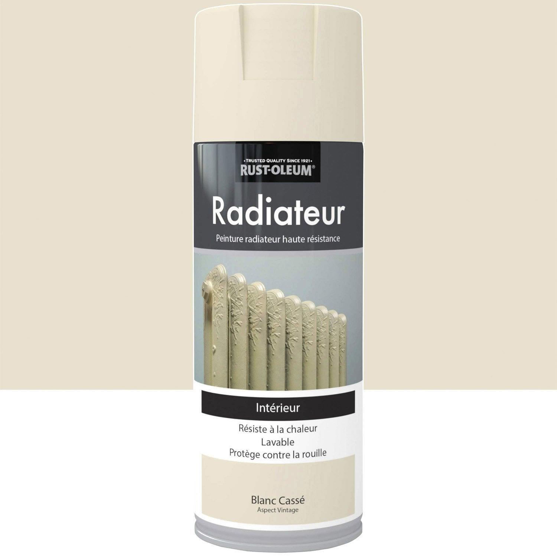 Peinture a rosol radiateur satin rustoleum blanc cass 0 - Peinture blanc casse gris ...