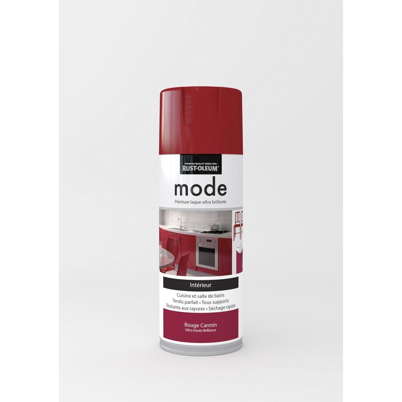 peinture a rosol mode brillant rustoleum rouge carmin 0 4 l leroy merlin. Black Bedroom Furniture Sets. Home Design Ideas