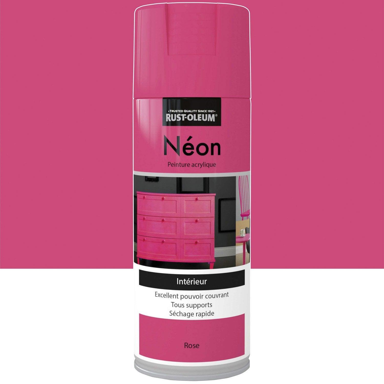 peinture a rosol n on fluorescent rustoleum rose 0 4 l. Black Bedroom Furniture Sets. Home Design Ideas