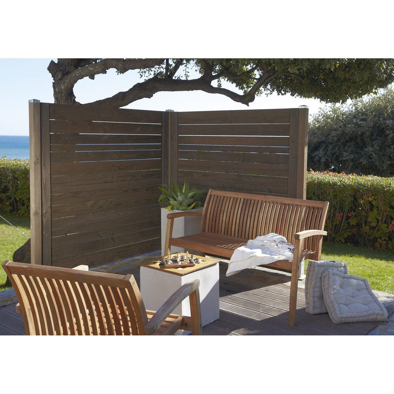 panneau bois ajour cm x cm marron leroy. Black Bedroom Furniture Sets. Home Design Ideas