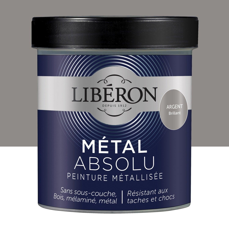 Exceptionnel Peinture Argent Pour Meuble #13: Peinture Pour Meuble, Objet Et Porte, Métallisé, LIBERON, Argent 0.5 |  Leroy Merlin