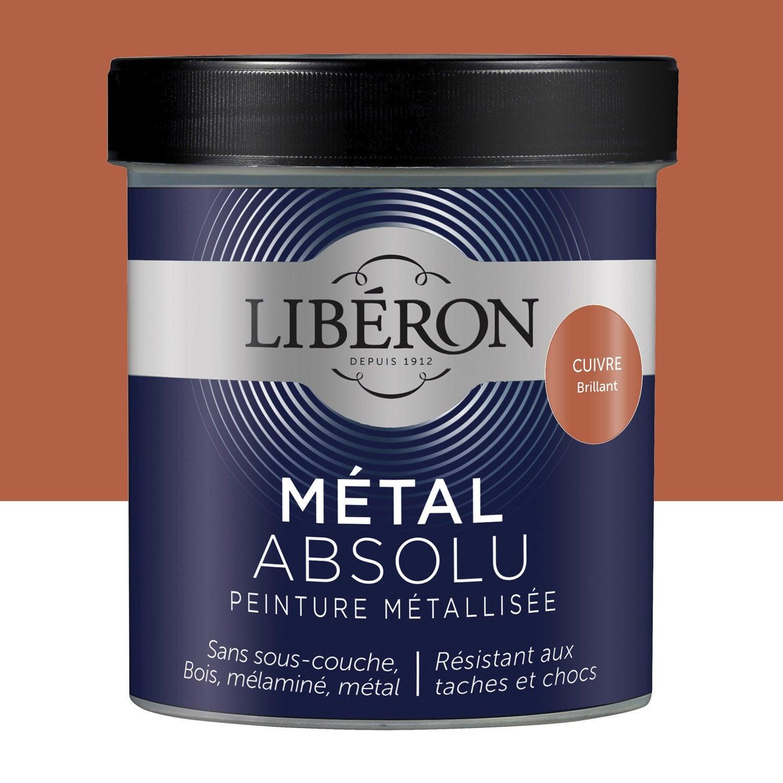 Peinture pour meuble objet et porte liberon m tal absolu cuivre 0 5 ler - Peinture liberon leroy merlin ...