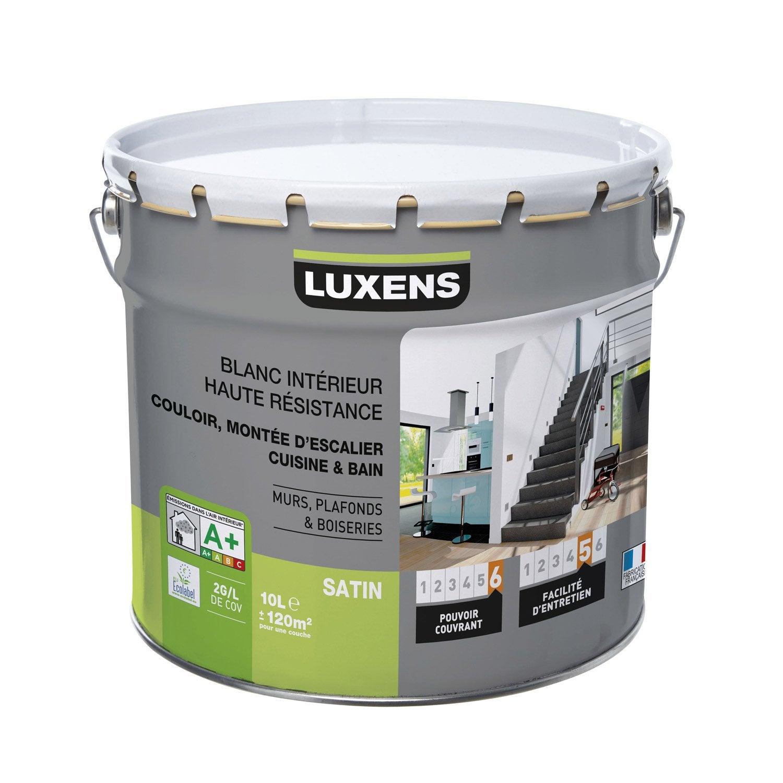 Peinture blanche mur plafond et boiserie haute r sistance for Peinture haute temperature leroy merlin