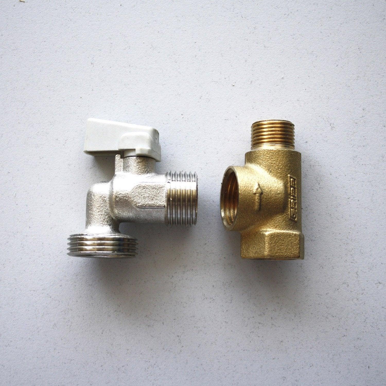 T de piquage et robinet machine laver 12 x 17 mm 15 x 21 mm leroy merlin - Robinet leroy merlin ...