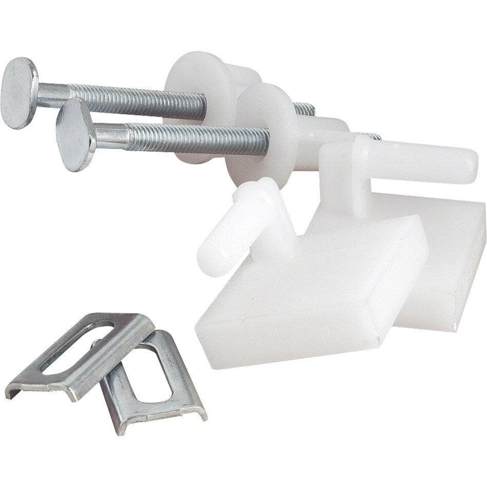 Fixation pour abattant x h 9 5 cm leroy merlin - Leroy merlin mecanisme wc ...