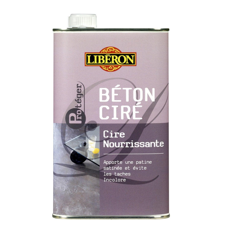 Cire nourissante b ton cir incolore liberon 1l leroy - Beton cire leroy merlin ...