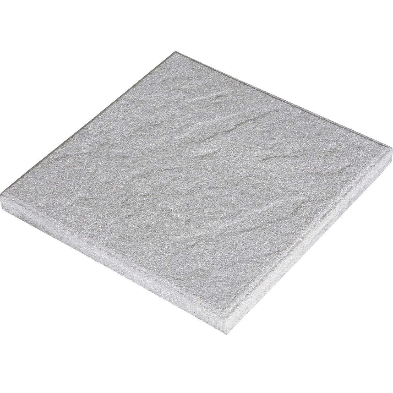 Dalle vercors en b ton gris x cm x ep 37 mm leroy merlin - Dalle clipsable leroy merlin ...