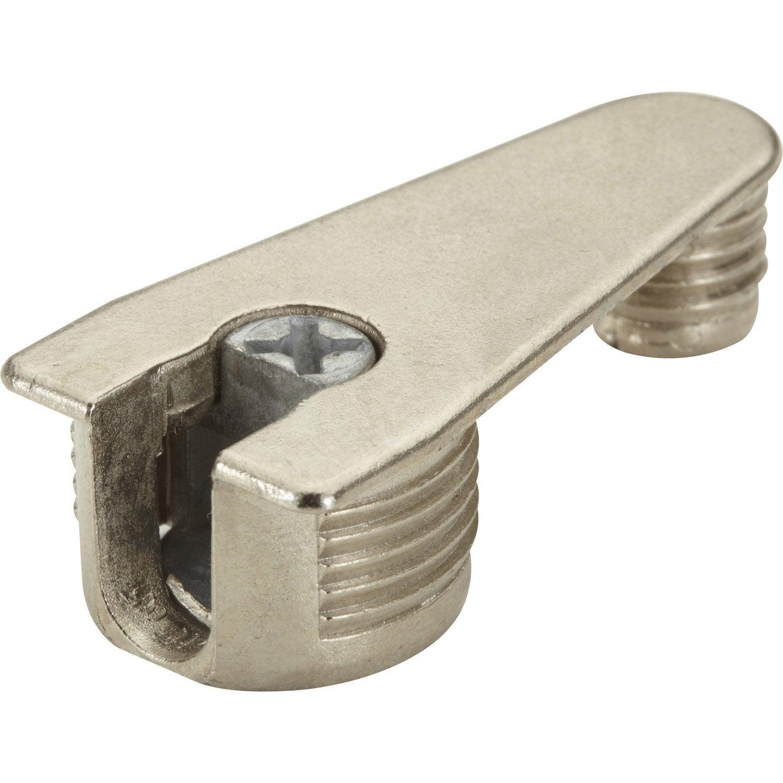Ferrure d 39 assemblage de coul e en acier nickel for Assemblage meuble