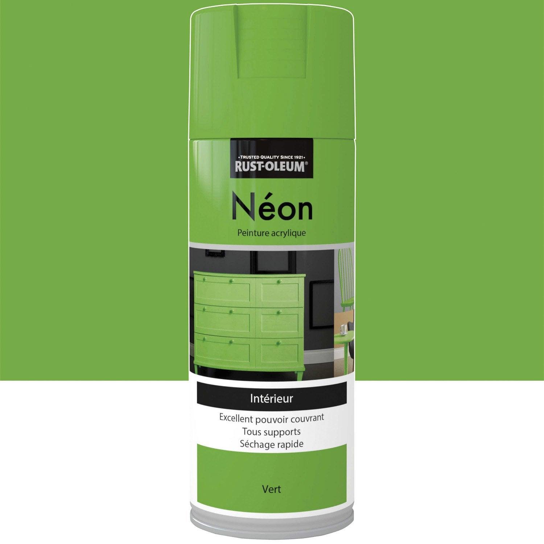 peinture a rosol n on fluorescent rustoleum vert 0 4 l. Black Bedroom Furniture Sets. Home Design Ideas