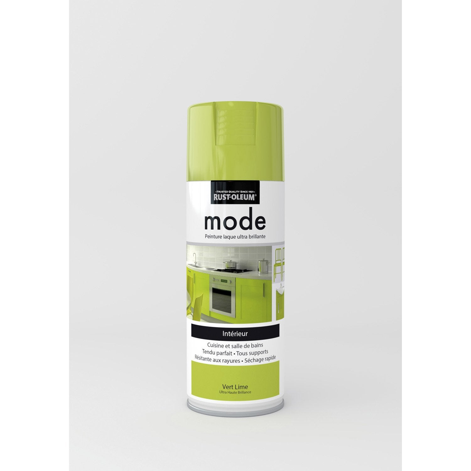 peinture a rosol mode brillant rustoleum vert lime 0 4 l leroy merlin. Black Bedroom Furniture Sets. Home Design Ideas