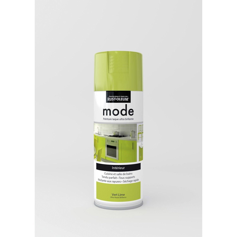 peinture a rosol mode brillant rustoleum vert lime 0 4 l. Black Bedroom Furniture Sets. Home Design Ideas
