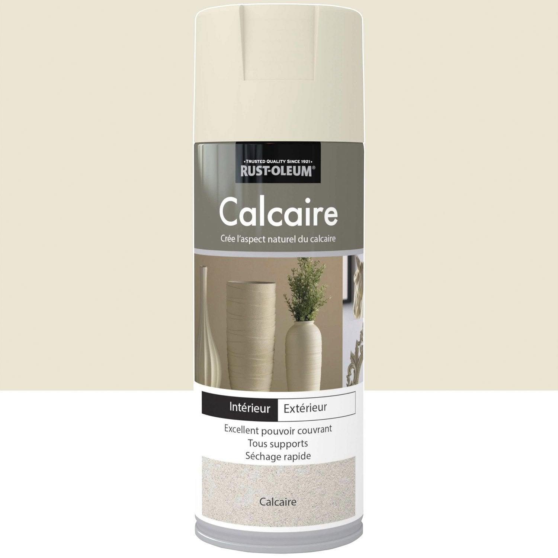 peinture a rosol effet pierre pierre rustoleum blanc calcaire 0 4 l leroy merlin. Black Bedroom Furniture Sets. Home Design Ideas
