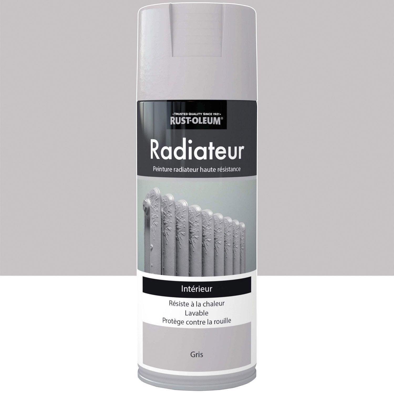 Peinture a rosol radiateur satin rustoleum gris 0 4 l - Peinture pour stratifie leroy merlin ...
