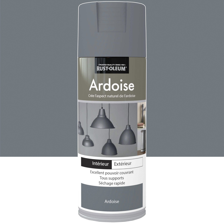 Peinture a rosol effet bronze textur fer vieilli rustoleum gris ardoise 0 - Peinture effet acier ...