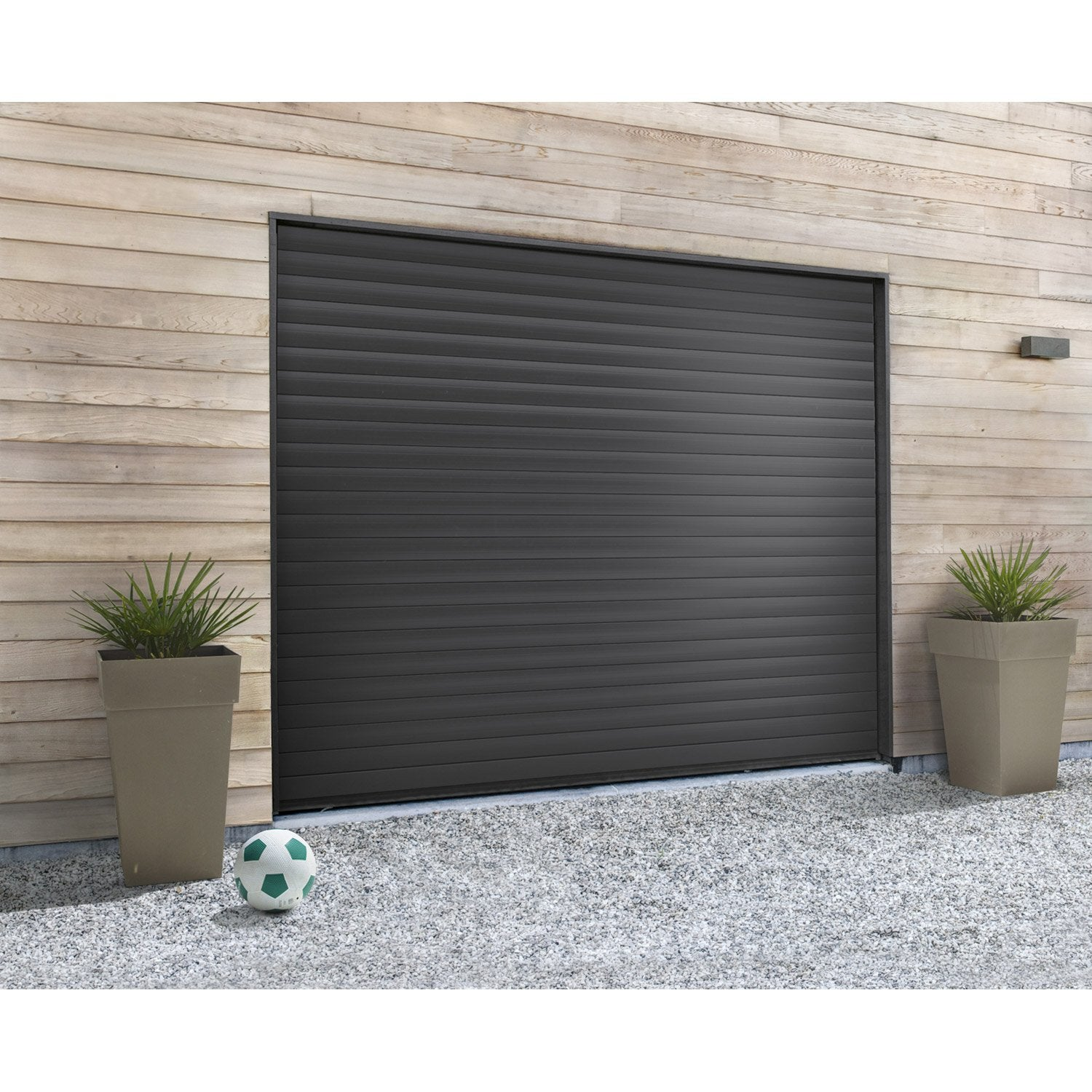 Porte de garage enroulement rollmatic hormann x cm leroy merlin - Garage bois leroy merlin ...