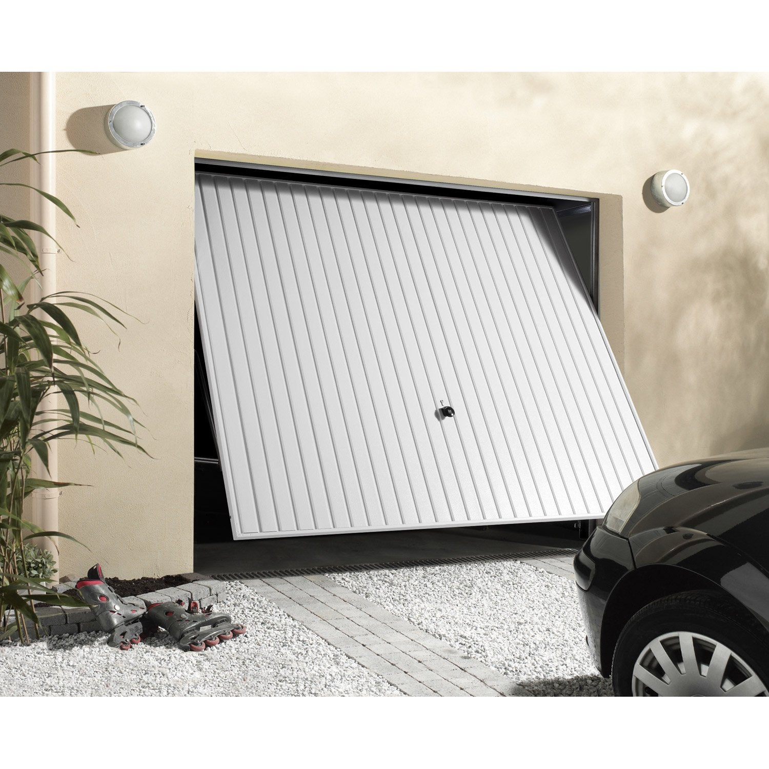 Porte de garage basculante manuelle d bordante x l for Porte de garage sectionnelle 220 x 200