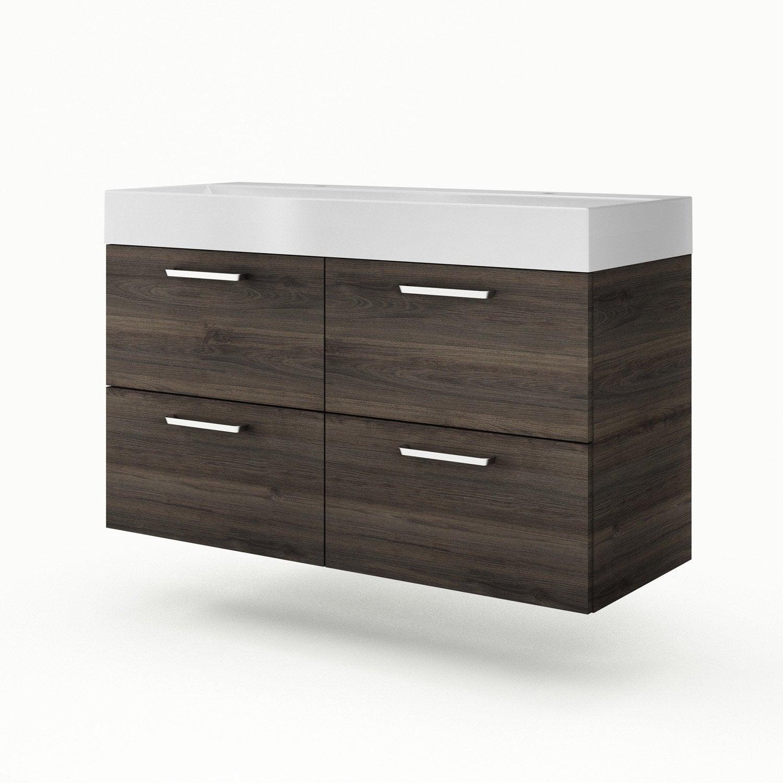 meuble vasque x x cm imitation ch taignier sensea neo line leroy merlin. Black Bedroom Furniture Sets. Home Design Ideas