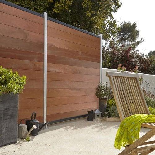 Cl ture personnalisable bois akola leroy merlin - Cloture jardin pvc leroy merlin ...