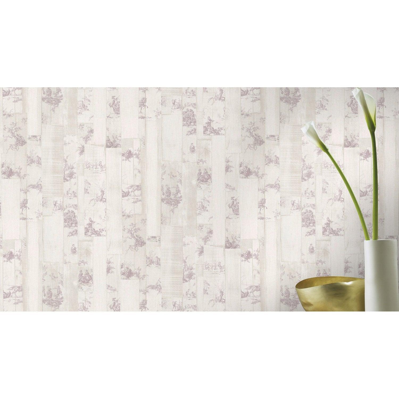papier peint intiss toile de jouy beige leroy merlin. Black Bedroom Furniture Sets. Home Design Ideas
