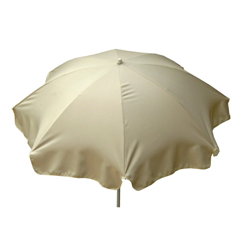 parasol droit lola blanc ivoire rond x cm. Black Bedroom Furniture Sets. Home Design Ideas