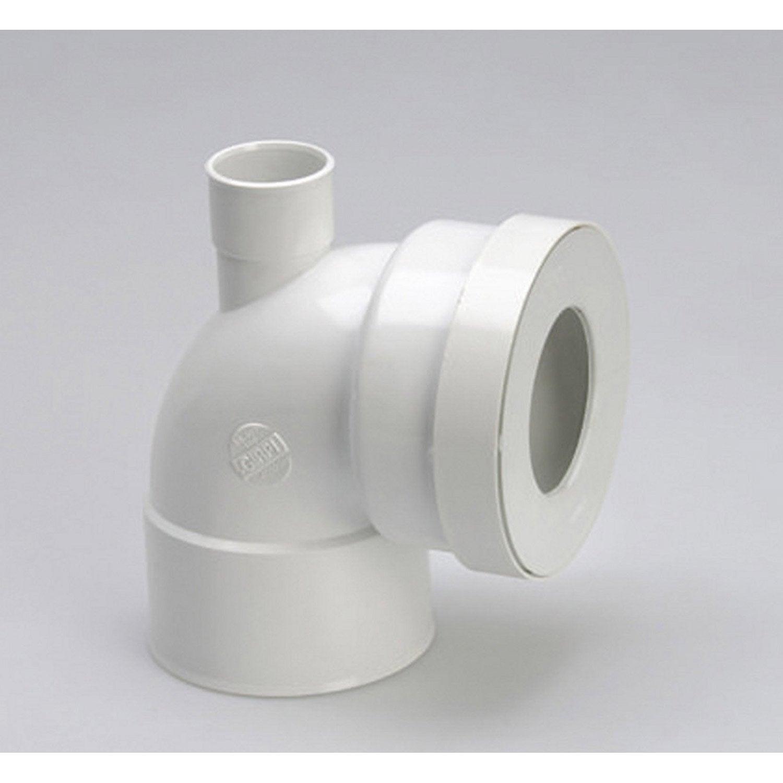 pipe de wc courte en angle de 90 c avec piquage. Black Bedroom Furniture Sets. Home Design Ideas