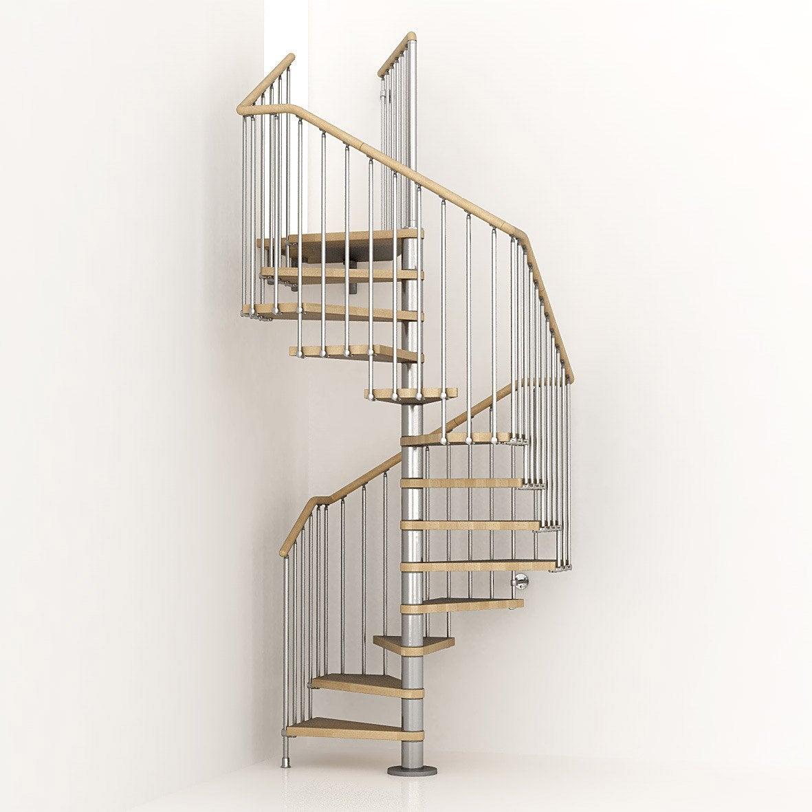Escalier cube pixima colima on carr en bois et m tal 13 marches leroy merlin - Escalier colimacon leroy merlin ...