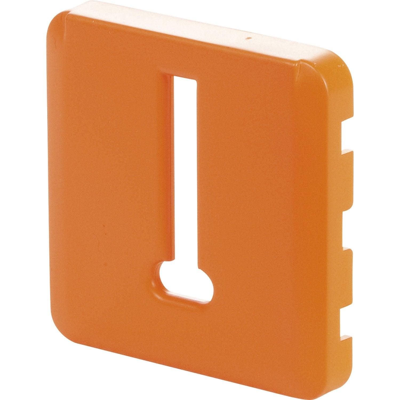 cache pour prise t l phone lexman orange tangerine n 3. Black Bedroom Furniture Sets. Home Design Ideas