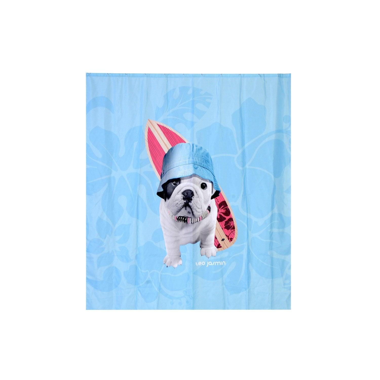 rideau de douche en textile multicolore x cm teo surf sensea leroy merlin. Black Bedroom Furniture Sets. Home Design Ideas