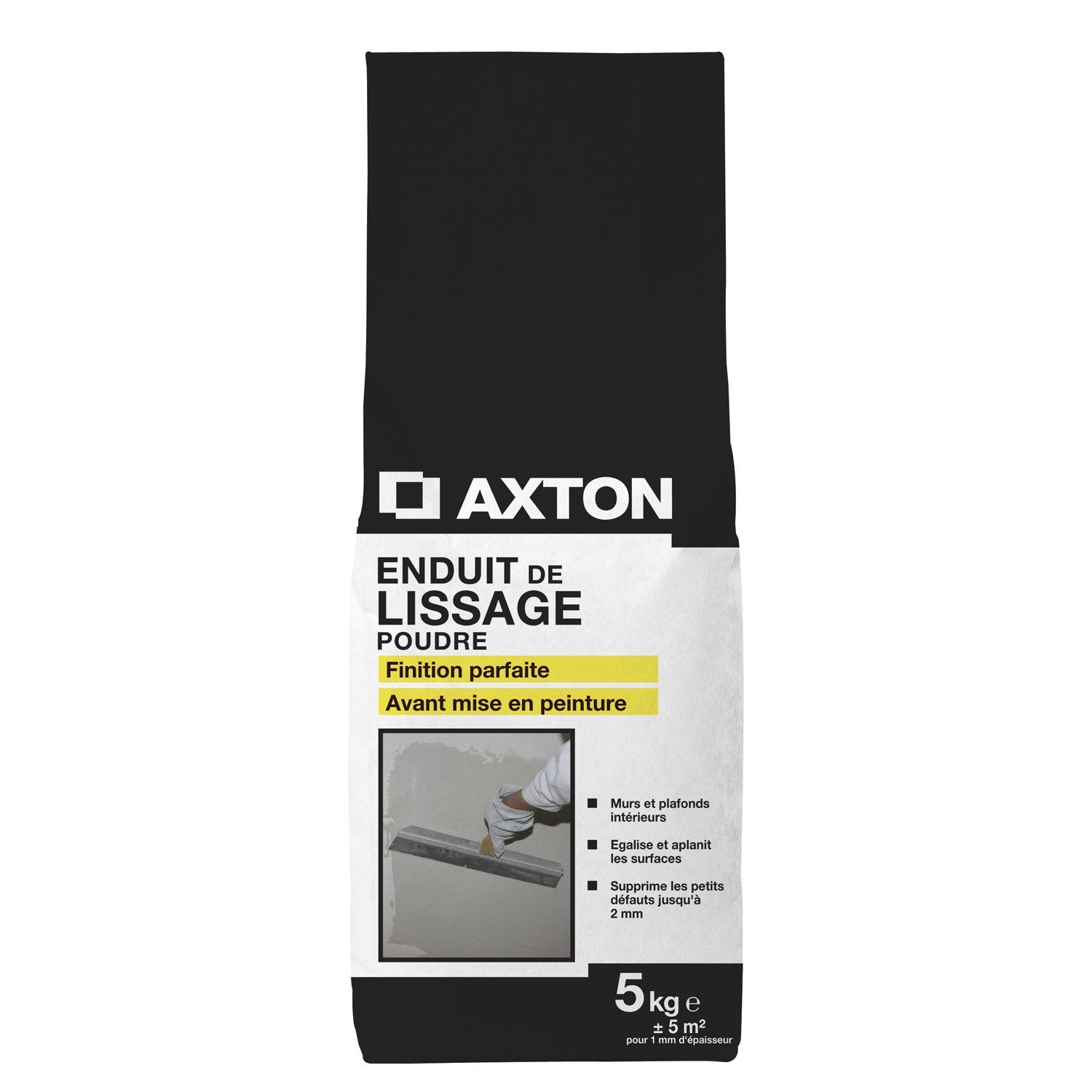 Enduit de lissage axton 5 kg leroy merlin for Video enduit de lissage