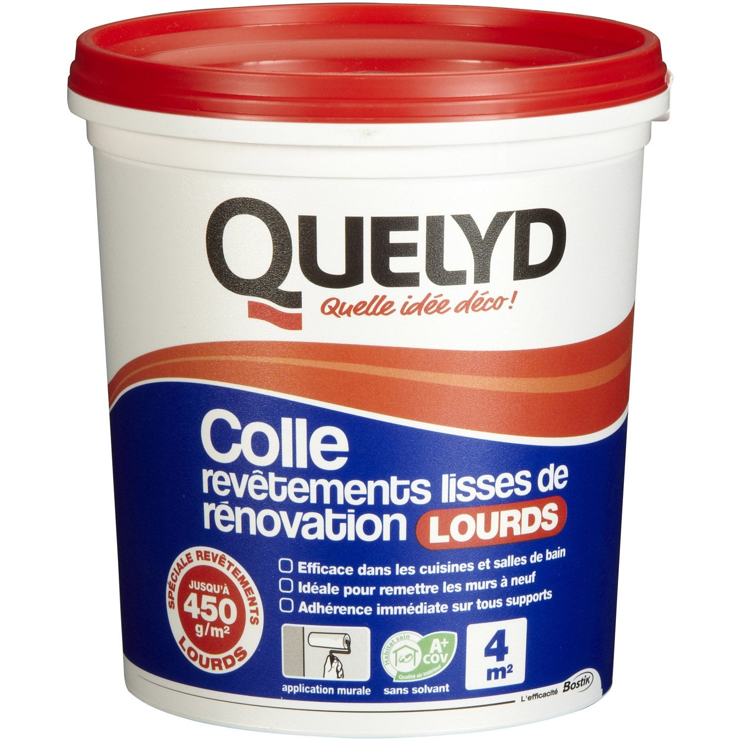 Colle rev tement mural lourd quelyd 1 kg leroy merlin for Revetement mural cuisine leroy merlin